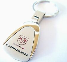 CHARGER KEY CHAIN RING FOB DODGE V6 V8 HEMI SRT RT HELLCAT 2015 2016 CHROME NEW
