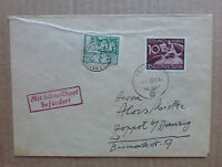 GERMANY RARE CHANNEL ISLANDS JERSEY 1944 BY SPEED BOAT TO BISMARK
