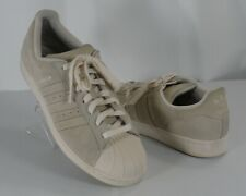 Mens Adidas Superstar Clam Shell Toe Suede Off White Beige Size 10.5 US 44.5 UK