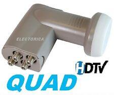 QUAD 4 OUTPUT STANDARD LINEAR HD SATELLITE LNB LNBF 10750 FREE TO AIR DISH FTA