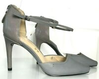 Ladies High Heel Shoes M&S Grey Leather UK 4.5 37.5 US 6.5 BNWT Marks Autograph