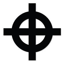 "Celtic Cross religious bumper sticker decal 4"" x 4"""