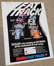 Hot Wheels Sizzlers Fat Track Ad Reproduction 8 1/2 x 11