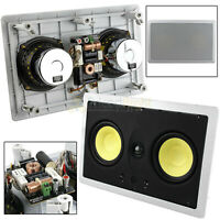 """2 Pack Dual 5.25"""" In Wall Center Channel Speaker 200W 8 Ohm MTX Home Theater"""