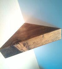 CORNER SHELF - Vintage style Solid Chunky Wood - DARK OAK - 40CM