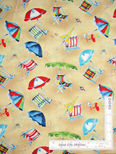 Beach Chair Umbrella Toss Sand Bge Cotton Fabric Wilmington Seaside Village Yard