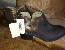 New~FLY London Leather Ankle Boots~Dias~Bronze~Brown~37~6.5-7