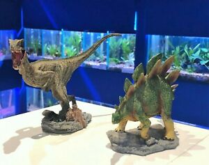 Dinosaur Aquarium Fish Tank Ornament - Raptor or Stegosaurus Dino