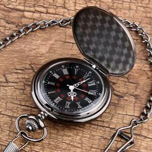 Vintage Pocket Watch TO MY SON Engraved Quartz Pendant with Chain Gifts UK