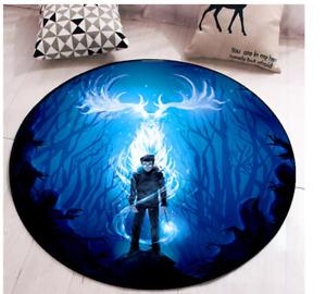 Kids Harry Potter Patronis Charm Bedroom Rug Carpet 100 x 100CM mat