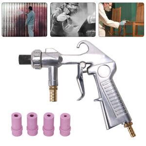 Sand Blasting Gun Sandblaster with Ceramic Nozzles Extra Iron Nozzle Tip Set