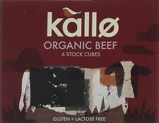 Kallo Bio Organic Boeuf 6 Stock Cubes - 66 g