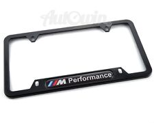 BMW USA Standart Vehicle License Plates Frames with M Performance Logo NEW 1 Pcs