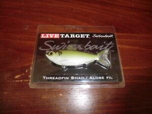 "LIVETARGET Threadfin Shad Swimbait, 3-1/2"", 1/2 oz, Green/Bronze, P/N:TFS95MS703"