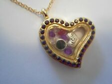 Valentine Locket For Mom ! Pretty Heart With Amethyst Crystals