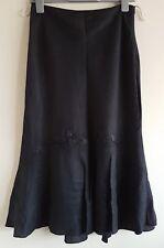 Size 8 Skirt PLANET Black Linen Beaded Excellent Condition Women's 31 Length
