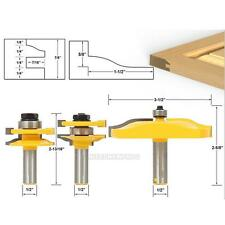 """3Pcs 1/2"""" Shank Round Rail & Stile and Raised Panel Router Bit Ogee Cutting Tool"""