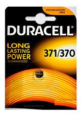 1 x 370/ 371 Duracell Knopfzelle Silver Oxide Batterie SR69 SR69W D371 D370 370