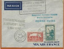 AIR FRANCE FLOWN COVER ALGER - POINTE NOIRE