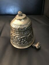 "Vintage Bell 5"" Solid Brass Design Goes Around Must See"