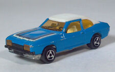 "Majorette 251 Ford Capri Mk II 3"" Blue White Roof 1:60 Scale Model France"