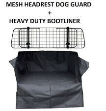 MESH HEADREST DOG GUARD + HEAVY DUTY BOOT LINER FOR BMW 1 SERIES ALL YEARS