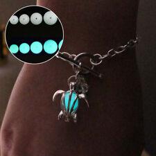 10Pcs 6MM Blue Luminous Crystal Quartz Sphere Ball Glow In The Dark Stone Decor