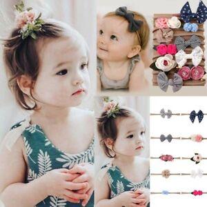 1Set 10Pcs Kids Infant Toddler Baby Headband Baby Girl Bow-knot Hair Clip Set