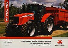 Massey Ferguson MF6400 03 / 2008 catalogue brochure tracteur Traktor