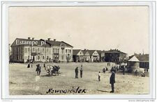 Nowogródek Rynek pocztówka (RPPC) Navahrudak postcard (93)