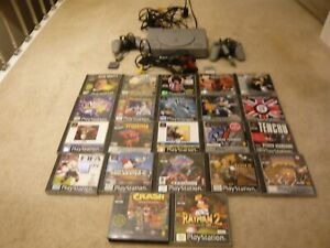SONY PLAYSTATION 1 / PS1 CONSOLE WITH 22 GAMES BUNDLE , PAL ....