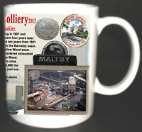 MALTBY MAIN COLLIERY COAL MINE MUG. LIMITED EDITION GIFT MINERS YORKSHIRE PIT