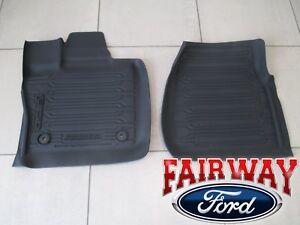 15 thru 20 F-150 OEM Genuine Ford Tray Style Molded Floor Mat Set 2-pc REG CAB
