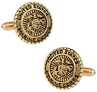 USMC Marine Corp Cufflinks Gold Direct from Cuff-Daddy