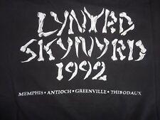 Vintage 90's LYNYRD SKYNYRD 1992 Concert Tour Southern Classic Rock T Shirt sz L