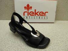 Rieker 62662-01 Damen SANDALEN schwarz (schwarz/schwarz 01) EU 39