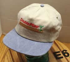 New listing Vintage Nwot Double Play Seeds Agriculture Farming Hat Gray/Blue Snapback E6