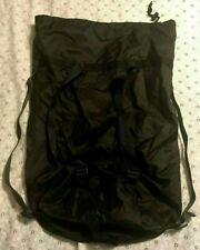 """vintage US MILITARY COMPRESSION STUFF SACK bag 6 STRAP ADJUSTABLE BLACK 28X13"""""""