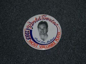 1993 Baseball Pinback Button *** PAUL MOLITOR *** Milwaukee Brewers Pin WS MVP