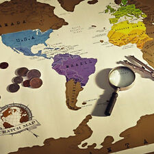 Luxury Scratch Off Personalized Journal Log Travel Edition World Map Poster