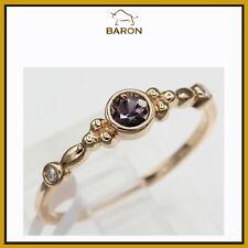 Montana Saphir Gold Ring 14K Rose Gold Stapelbare Ringe Lila Shapphire 3.5