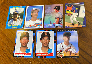 1980s & 90s BASEBALL HOF/STAR ROOKIE CARD LOT(7) Griffey Jr Chipper Jones READ