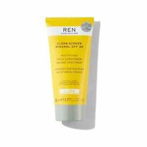 REN Skincare - Clean Screen Mineral SPF 30 Mattifying Face Sunscreen HALF PRICE