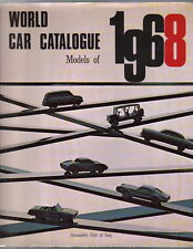World Car Catalogue 1968 annual book on motor industry, manufacturers & models