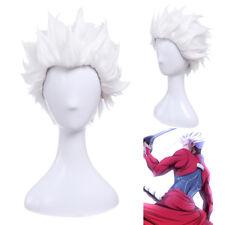 Fate Stay Night Fate Zero Archer Emiya Cosplay Wig White Short Styled US Stock