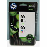 NEW HP 65/65 GENUINE BLACK & COLOR INK SET for Deskjet