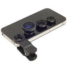 Powerpak 3in1 Universal 180° Fisheye Lens + Wide Angle + Macro Lens Mobile Clip