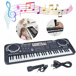 61 Key Digital Electronic Keyboard & Microphone Electric LED Piano Organ Quality
