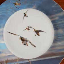 "Set of 2 Ducks Unlimited Side Plates 7.5"" Diameter each Blue Rim 132.1"