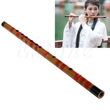 7 Hole Wood Traditional Long Bamboo Flute Clarinet Clarionet Musical Instrument